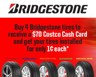 Incredible offer on Bridgestone tires PLUS more exciting savings!