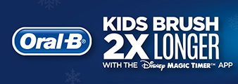 Oral-B. Kids Brush 2x longer with the Disney Magic timer App. Shop Now.