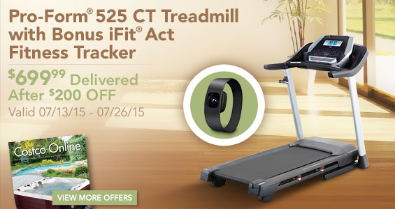 Save On The Pro Form 525 Ct Treadmill Plus Great Getaway Ideas