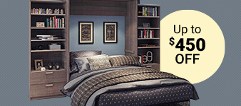 Bestar Cielo Wall Bed Sets. Up to $450 OFF. Valid 01/13/20 - 01/26/20. While quantities last. Shop Now.