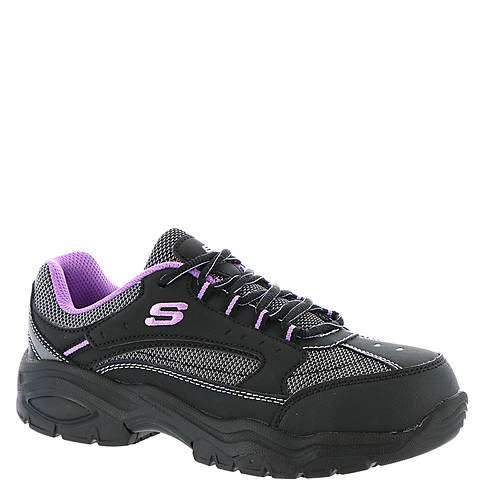 Women's Skechers Work 76601 Biscoe Ladies Steel Toe Oxford Work Shoes