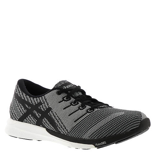 ASICS FuzeX Knit Running Shoe(Women's) -Flash Coral/Black/Safety Yellow