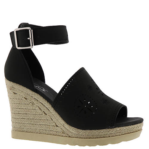 sugar Heated Women's ... Espadrille Platform Wedge Sandals