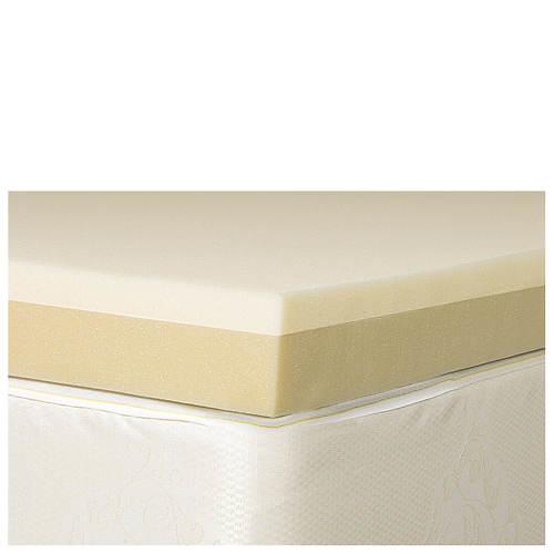 """4"""" Memory Foam & High Density Foam Mattress Topper"""