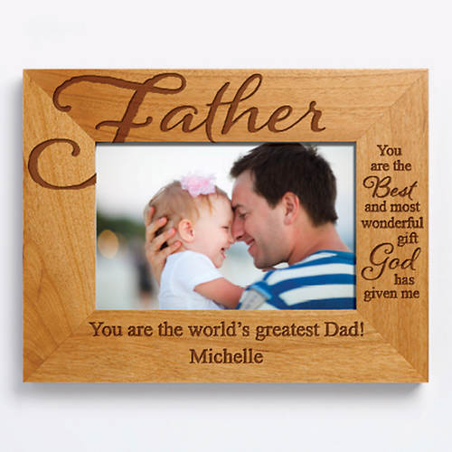 Personalized Wood Frame Father Color Out Of Stock Figis Gifts