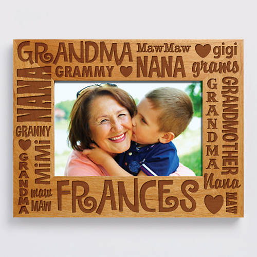 Personalized Wood Frame Grandma Color Out Of Stock Figis