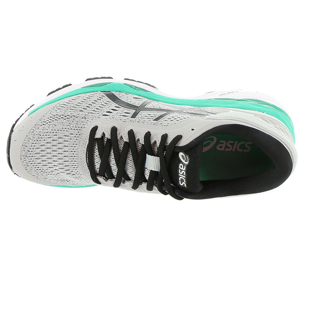 Asics Gel Kayano 24 Zapatos De Las Mujeres Mediados De Gris / Negro / Atlantis oJSNigGuv