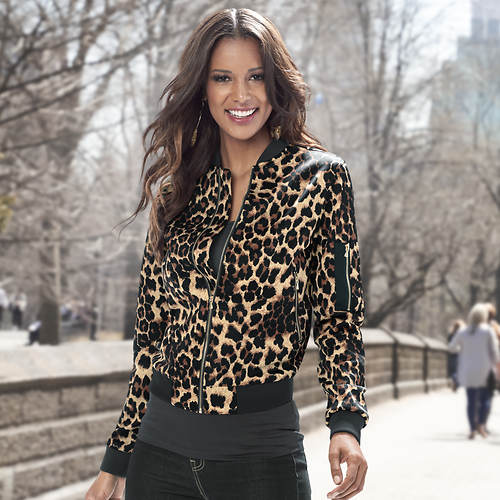 Leopard Bomber Jacket | FREE Shipping at ShoeMall.com