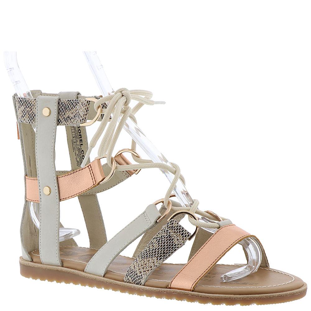 Sorel Ella Lace Up Women's Bone Sandal 6 M 552652NAT060M