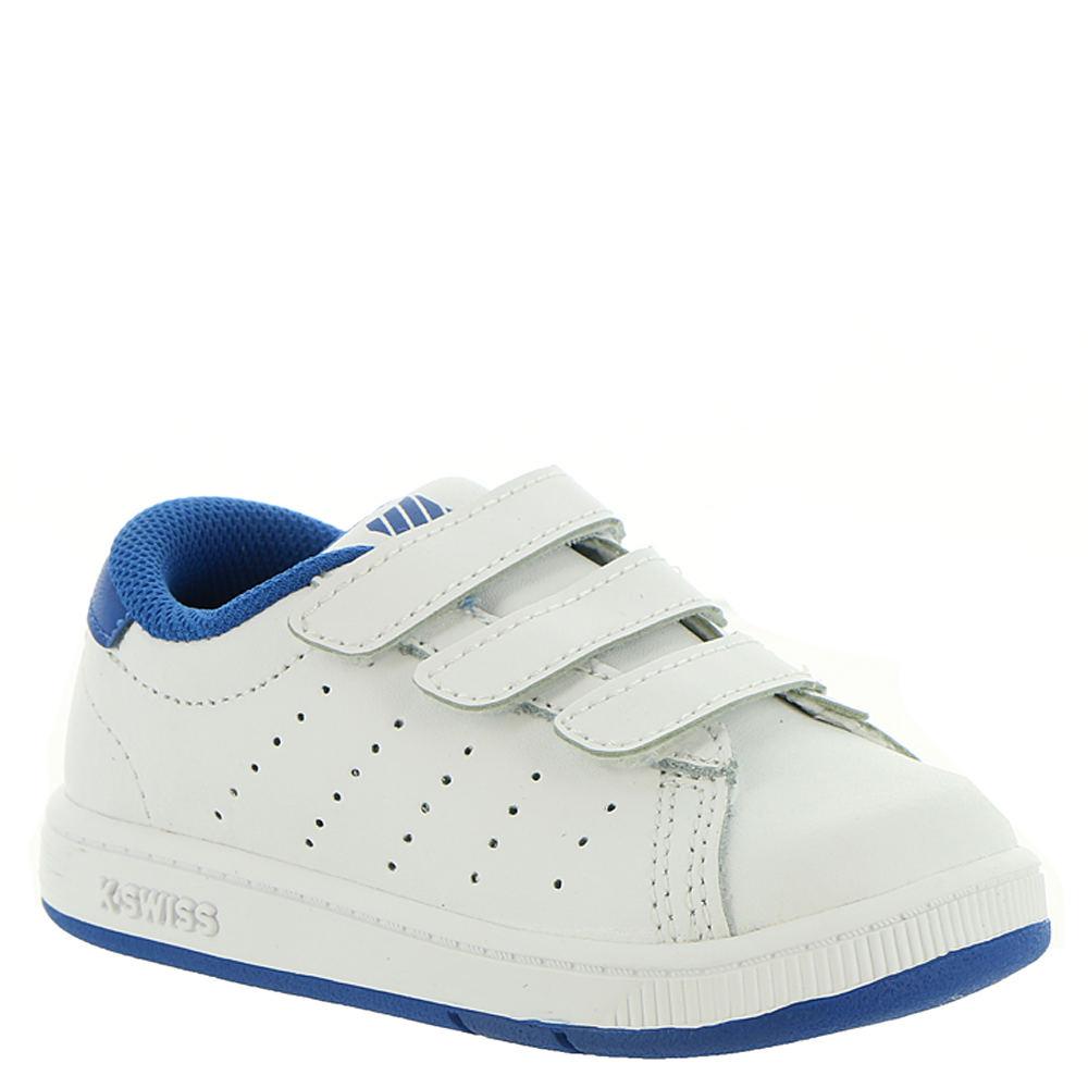 K-Swiss Clean Court 3-Strap Infant Boys' Infant-Toddler White Sneaker 9.5 Toddler M 828118WHT095M
