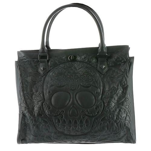 Loungefly Lattice Skull Tote Bag
