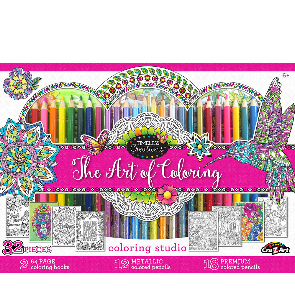32-Piece Adult Coloring Set | Stoneberry