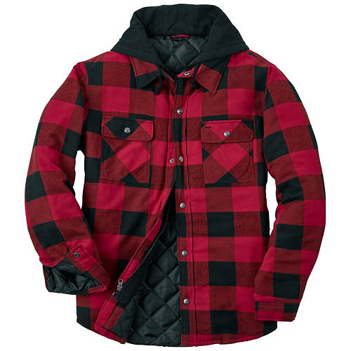 c00dc04374 Men's Hooded Flannel Shirt Jacket | Stoneberry