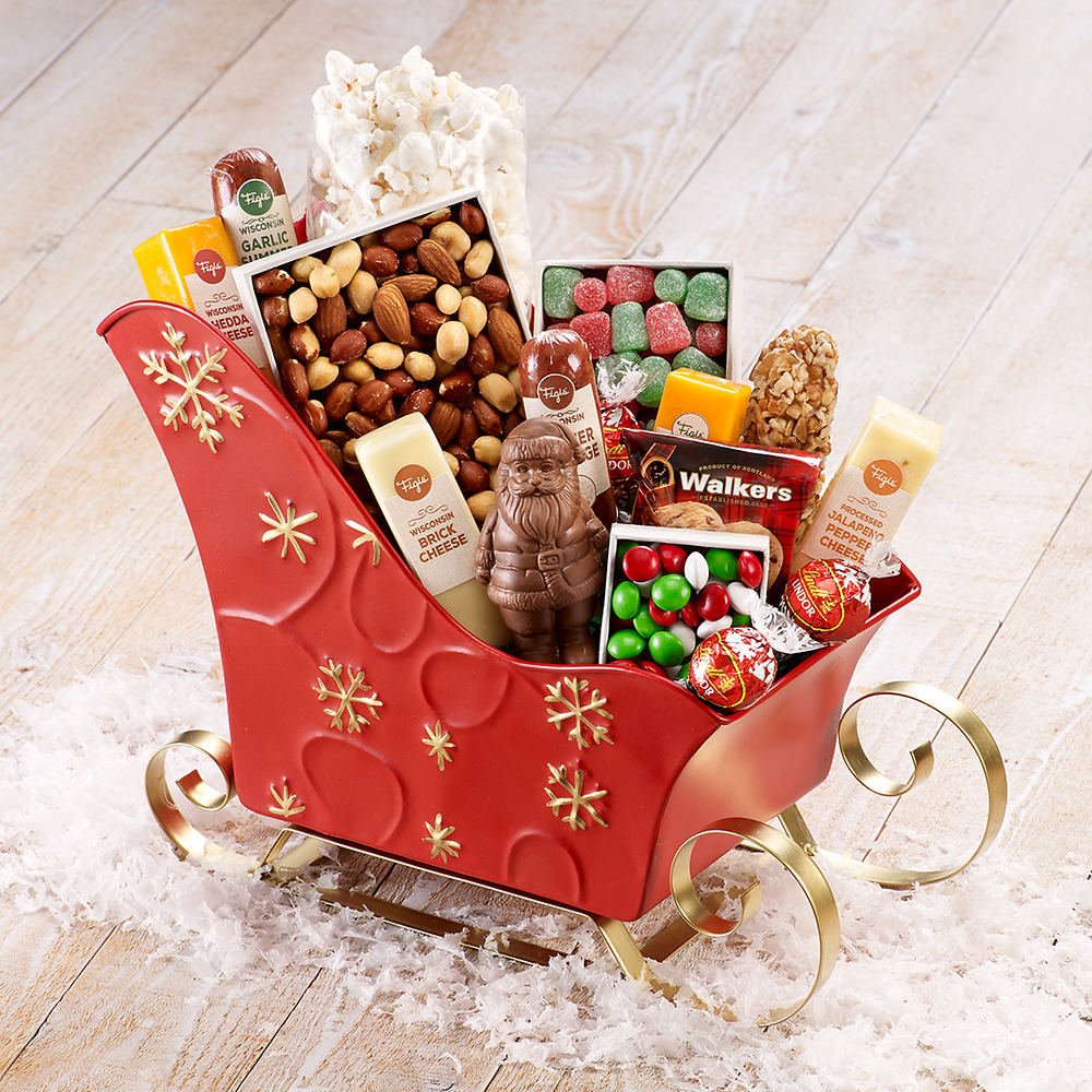 Christmas Sleigh of Treats | Figi\'s Gifts in Good Taste
