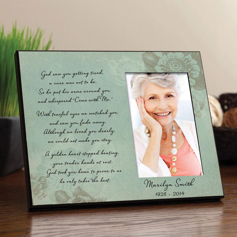 Floral Personalized Memorial Frame | Figi\'s Gallery