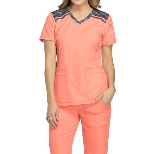 ca04a6f0401 Dickies Medical Uniforms Dynamix-Melange V-Neck Top | FREE Shipping at  ShoeMall.com