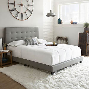 the latest beecc 98dcd Jupiter Queen Tufted Faux Leather Platform Bed