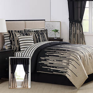 Patterned 24-Piece Bed-In-A-Bag Set | Stoneberry