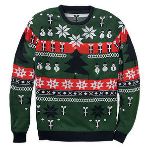 Ohio State Ugly Christmas Sweater.Ugly Christmas Sweater With Flashing Led Lights