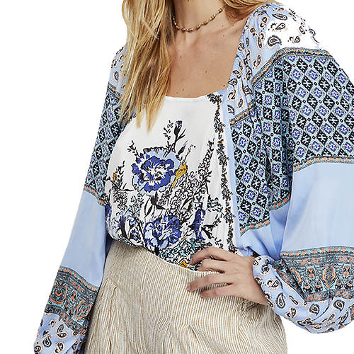 aed0b90c Free People Women's Positano Printed Blouse | FREE Shipping at ...