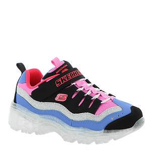 Skechers Girls' S Lights Ice D'Lites Snow Spark Sneaker