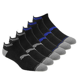 PUMA Mens P113427 Low Cut 6 Pack Socks