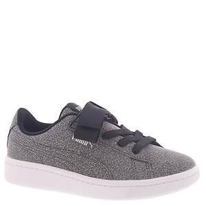 Shop Silver Puma Vikky Glitz Platform Sneakers for Kids
