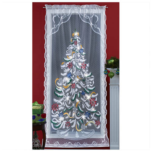 Airbrushed Christmas Lighted Window Panel - Airbrushed Christmas Lighted Window Panel Stoneberry
