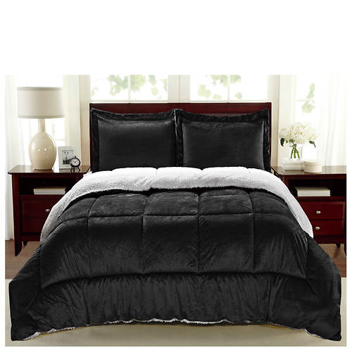 Comforter Sets.Sherpa Faux Suede Comforter Set