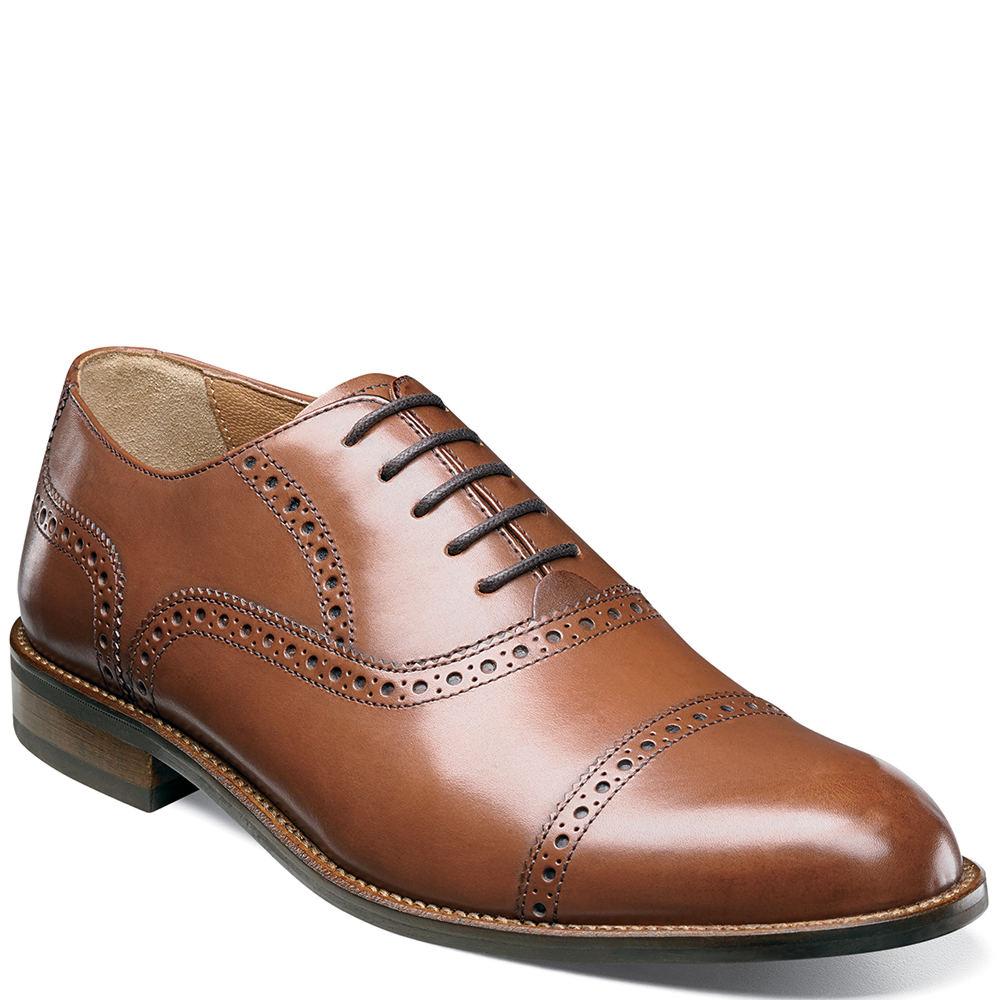 Leather Oxford Saddle Shoes