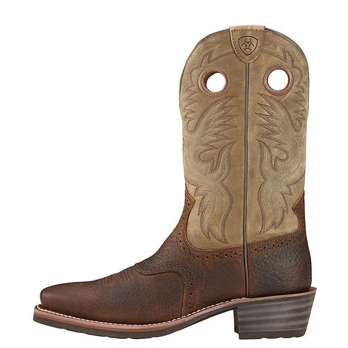 W Ariat men's Toe Sq Heritage Roughstock 1wz4E