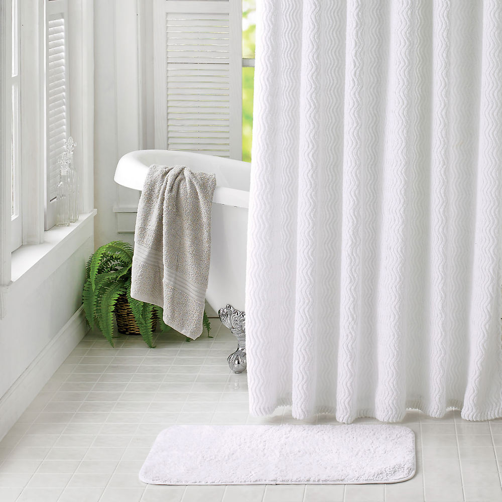 Chenille Shower Curtain With Rug 1064240 2 A0