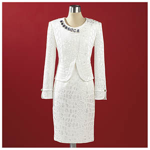 Stacy Adams Jewel Brocade Jacket & Dress