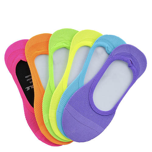 Sof Sole Girls' 6-Pack Fluorescent Footie Socks
