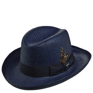 Stacy Adams Men's Homburg Straw Hat
