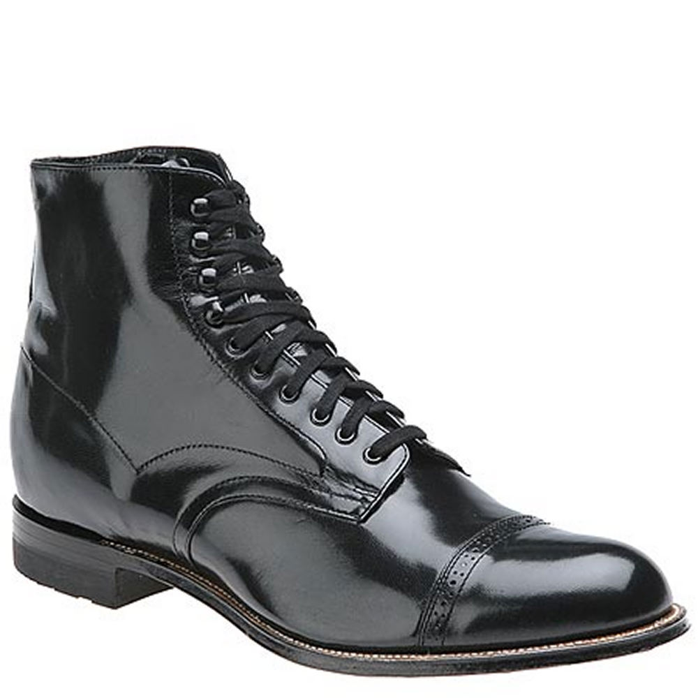 Victorian Men's Shoes & Boots- Lace Up, Spats, Chelsea, Riding Stacy Adams Madison Hi Top Mens Black Boot 10.5 E $134.95 AT vintagedancer.com