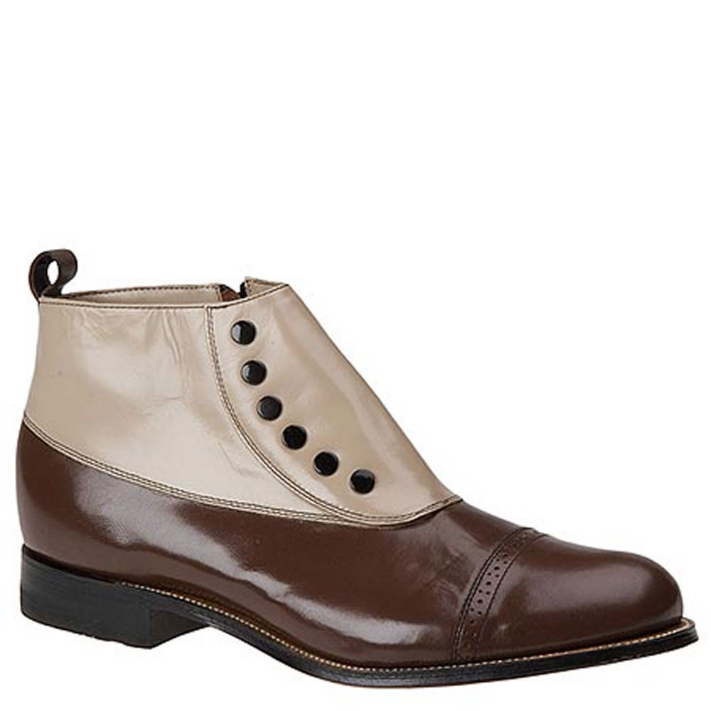 1910s Men's Edwardian Fashion and Clothing Guide Stacy Adams Madison Cap Toe Mens Brown Boot 11 W $134.95 AT vintagedancer.com