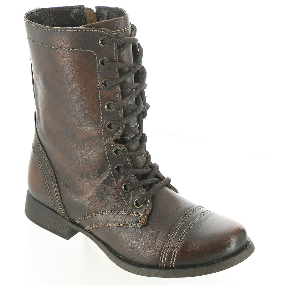 1920s Style Shoes Steve Madden Troopa Womens Brown Boot 5 M $79.95 AT vintagedancer.com