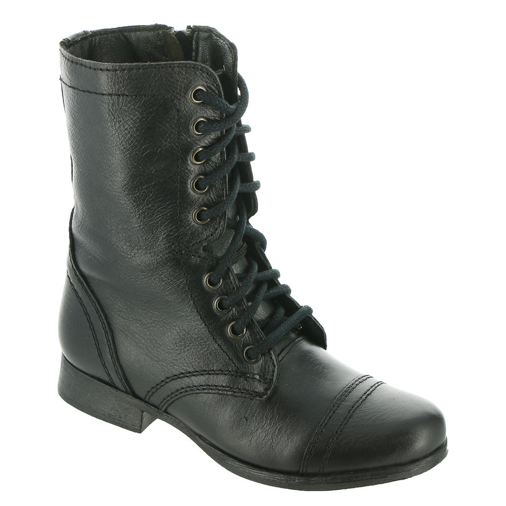1920s Style Shoes Steve Madden Troopa Womens Black Boot 10 M $79.95 AT vintagedancer.com