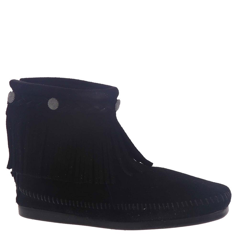 Vintage Boots- Buy Winter Retro Boots Minnetonka Womens Hi Top Back Zip Black Boot 6.5 M $59.95 AT vintagedancer.com