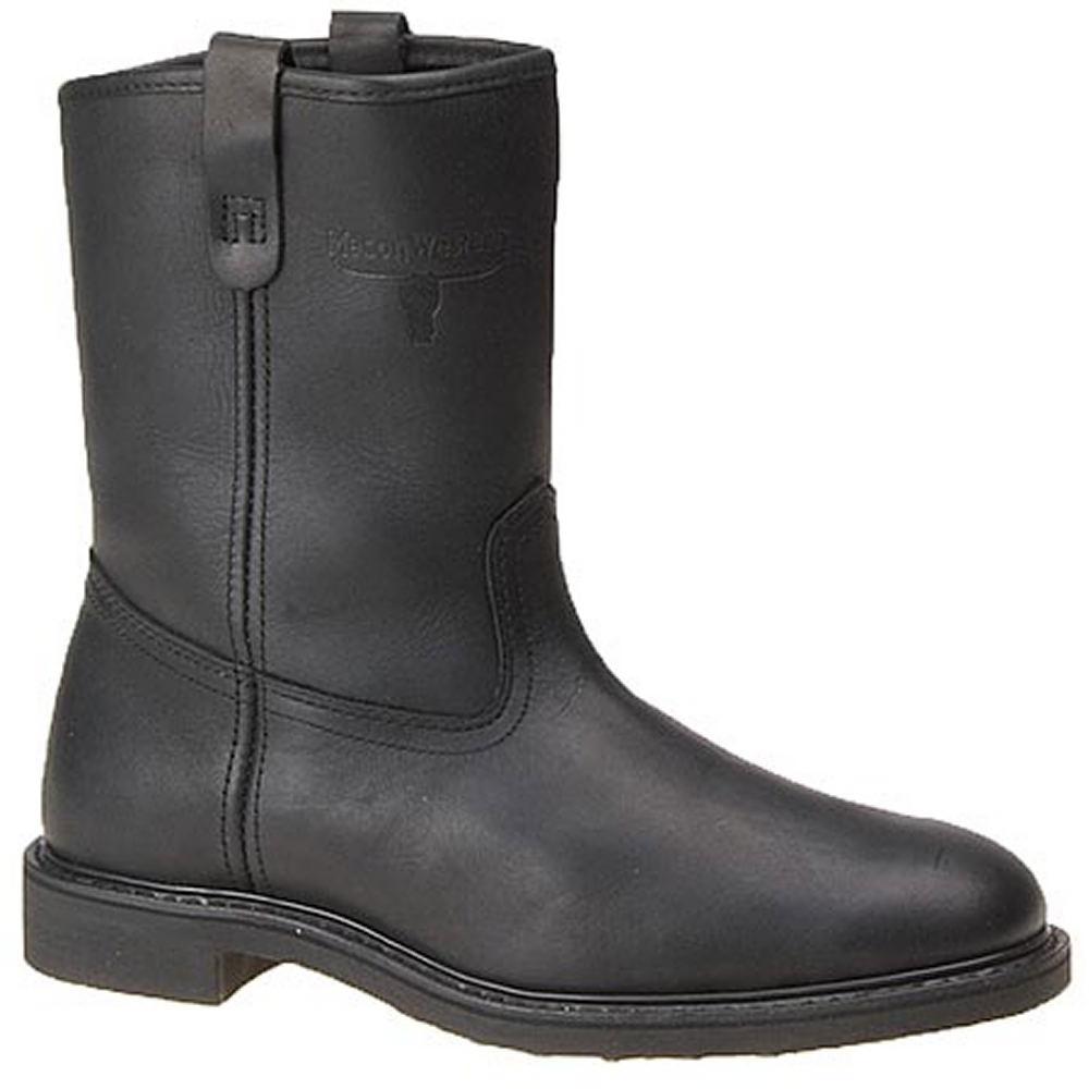 Men's Vintage Workwear Inspired Clothing Western Work Mens Steel Toe 9 Wellington Black Boot 10.5 E4 $153.95 AT vintagedancer.com