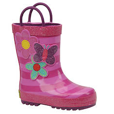Western Chief Girls' Blossom Cutie Stripe Rainboot (Toddler-Youth)