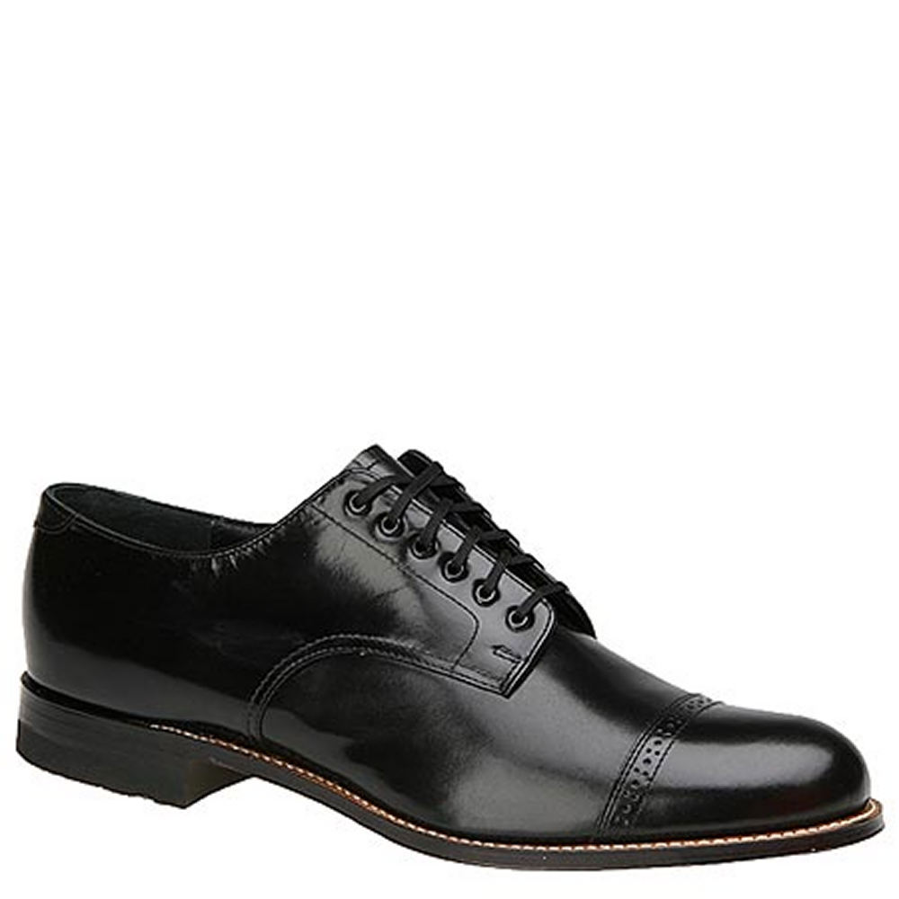 1930s Men's Shoe Styles, Art Deco Era Footwear Stacy Adams MADISON 00012 Mens Black Oxford 15 D $119.95 AT vintagedancer.com