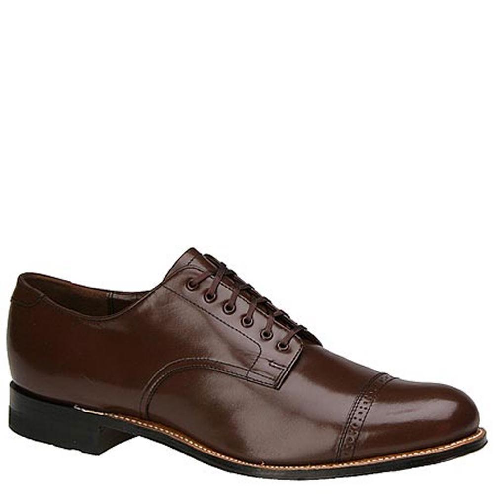1930s Men's Shoe Styles, Art Deco Era Footwear Stacy Adams MADISON 00012 Mens Brown Oxford 10 E $119.95 AT vintagedancer.com