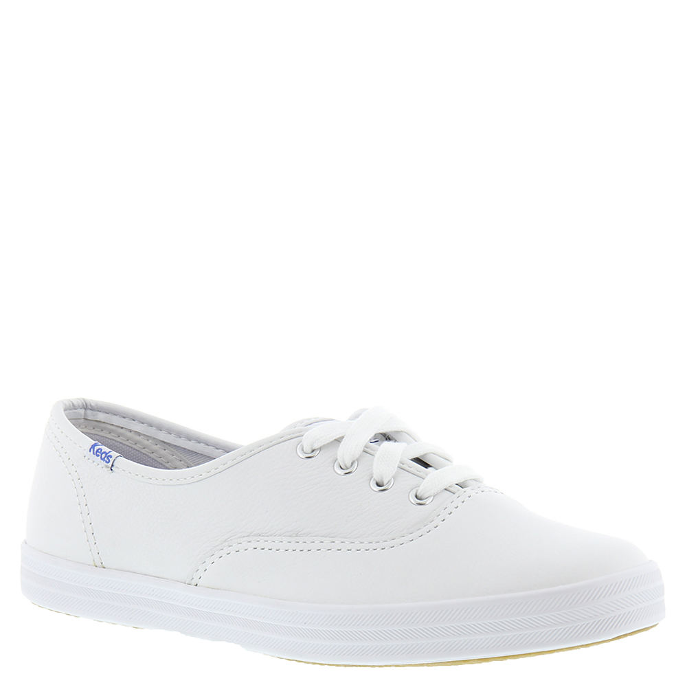 Retro Vintage Flats and Low Heel Shoes Keds Champion Leather Oxford Womens White Oxford 5 E2 $54.95 AT vintagedancer.com