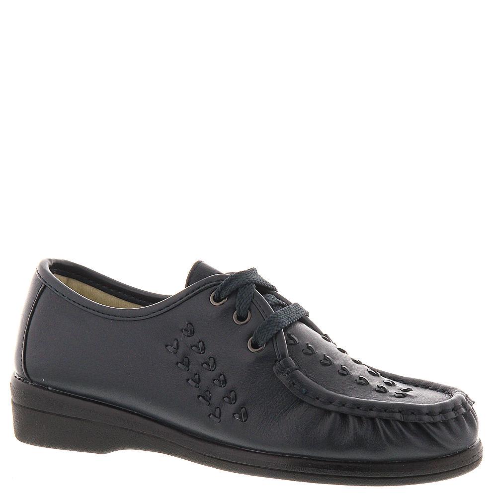 Retro Vintage Flats and Low Heel Shoes Softspots Womens Bonnie Lite Oxford Blue Navy Oxford 10.5 A2 $68.95 AT vintagedancer.com