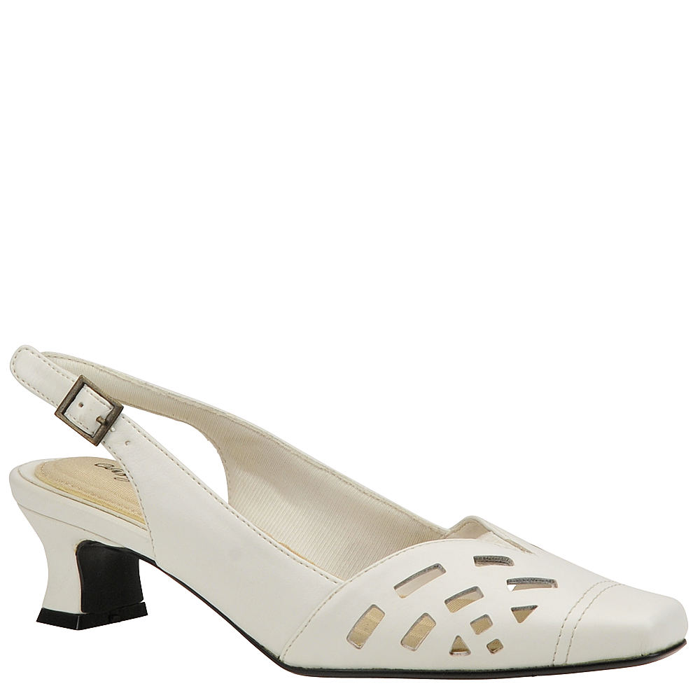 Vintage Wedding Shoes, Flats, Boots, Heels Easy Street Adorable Womens White Pump 11 W2 $49.95 AT vintagedancer.com