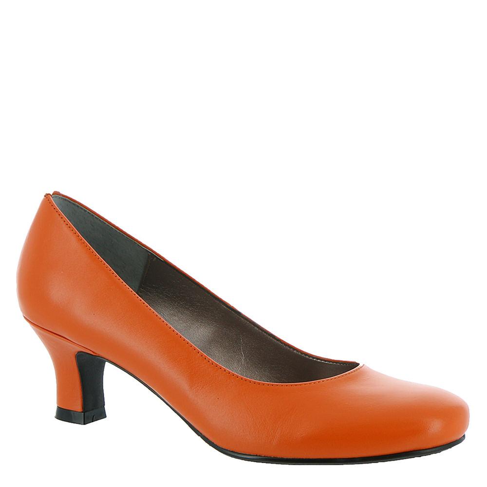 Vintage Shoes, Vintage Style Shoes ARRAY FLATTER Womens Orange Pump 7 W $79.95 AT vintagedancer.com