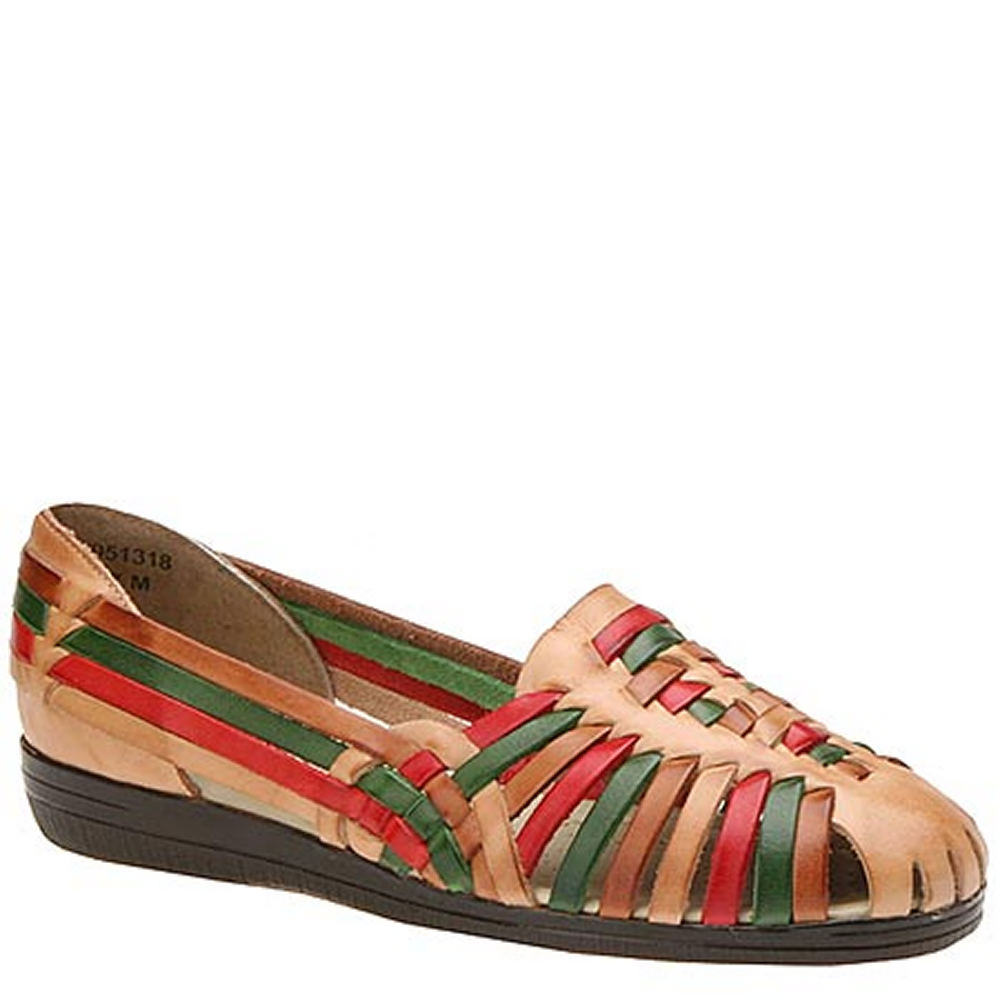 Saddle Shoes History Softspots Trinidad Womens Multi Sandal 5 M $59.95 AT vintagedancer.com