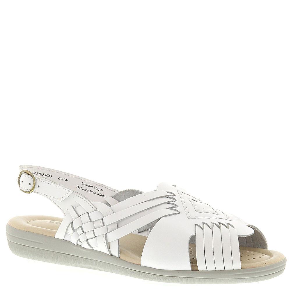 1940s Style Shoes, 40s Shoes Softspots Womens Tela Sling White Sandal 8.5 E2 $59.95 AT vintagedancer.com